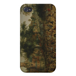 Assault on a Town (oil on canvas) iPhone 4 Cover