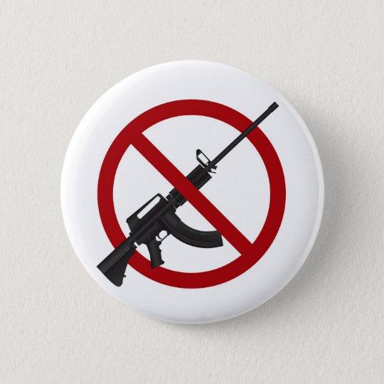 Assault Rifle AR15 Gun Ban Symbol Button