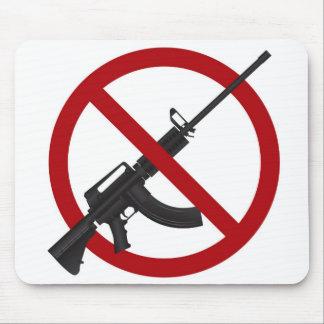 Assault Rifle AR15 Gun Ban Symbol Mousepad