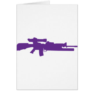 Assault Rifle Greeting Card