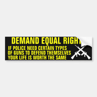 Assault Weapon Ban Bumper Sticker