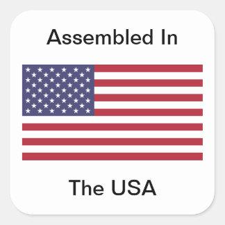 Assembled In The USA Sticker
