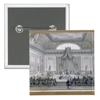 Assemblee des Notables Presided over by Louis 15 Cm Square Badge