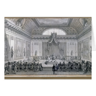 Assemblee des Notables Presided over by Louis Greeting Card
