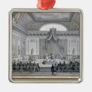 Assemblee des Notables Presided over by Louis Silver-Colored Square Decoration