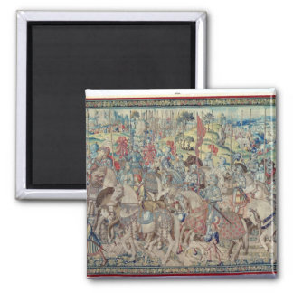 Assembling the Riders, from the tapestry of 'David Magnet