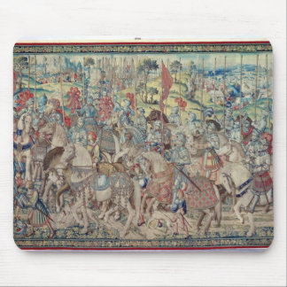 Assembling the Riders, from the tapestry of 'David Mouse Mat