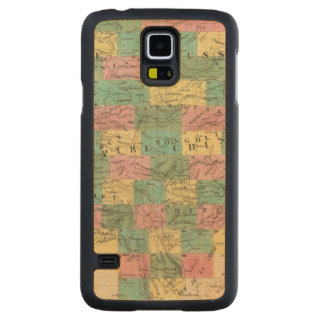 Assembly Map of Asia Carved Maple Galaxy S5 Case
