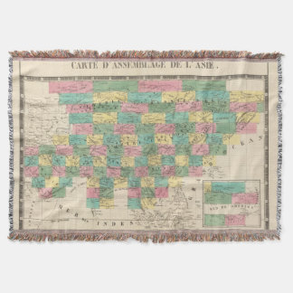 Assembly Map of Asia Throw Blanket