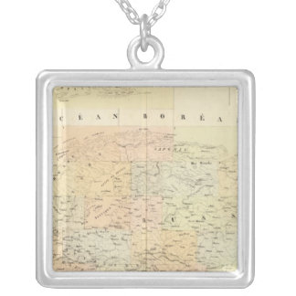 Assembly Map of Europe Silver Plated Necklace