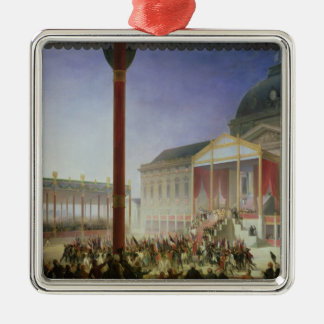 Assembly of the Champ de Mai, 1st June 1815 Silver-Colored Square Decoration