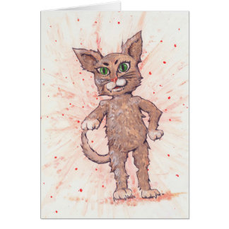 Asserive Cat Greeting Card