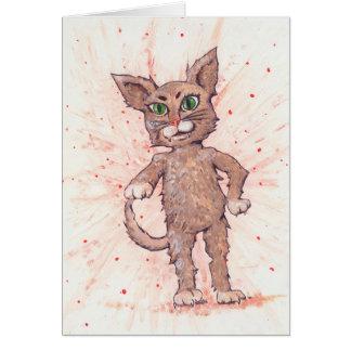 Assertive Cat Greeting Card