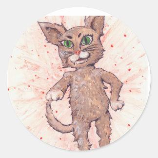 Assertive Cat Round Sticker