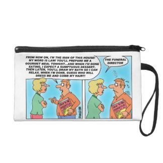 Assertiveness Cartoon Wristlet