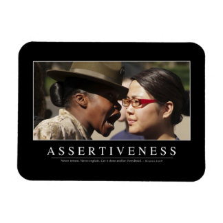 Assertiveness: Inspirational Quote Rectangular Photo Magnet