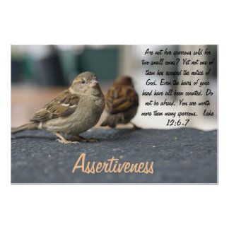 Assertiveness Poster - Sparrows Quote