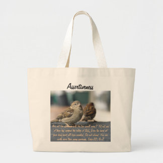 Assertiveness Sparrows Quote Jumbo Tote Bag