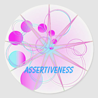 Assertiveness (Virtue sticker) Classic Round Sticker