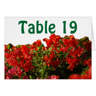 Assign Numbered Table Seating Hawaii Bougainvillea Note Card