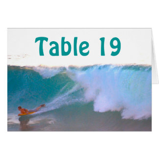 Assigned Seating tent cards Surf and Sea