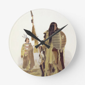 Assiniboin Indians, plate 32 from volume 2 of 'Tra Round Clock