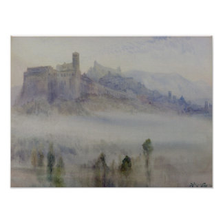 Assisi, Early Morning Poster