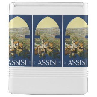 Assisi Italy Vintage Travel custom cooler Igloo Cool Box