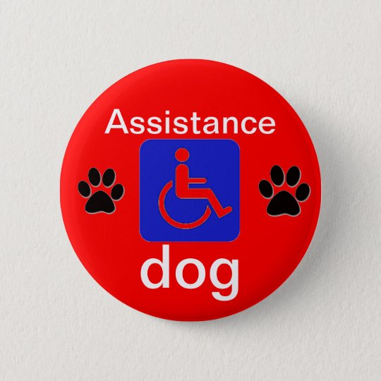 assistance dog disabled symbol with paws 6 cm