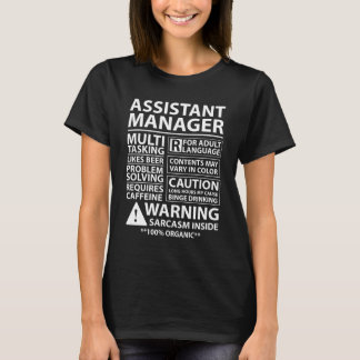 Assistant Manager Management Business T-Shirt