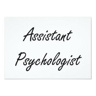 Assistant Psychologist Artistic Job Design 5x7 Paper Invitation Card