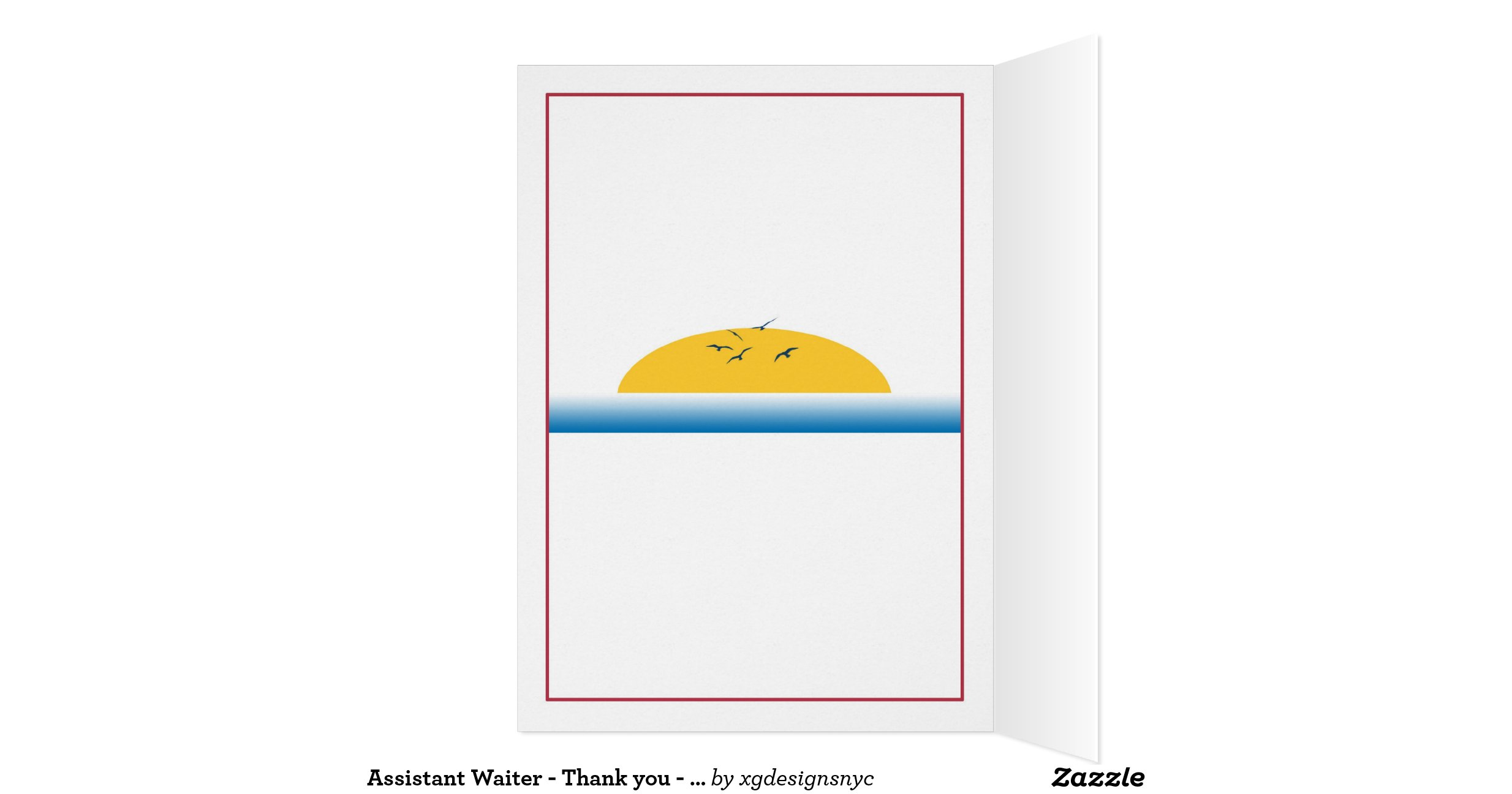 Assistant Waiter Thank You Cruise Ship Zazzle