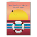 Assistant Waiter - Thank you - Cruise Ship Greeting Card
