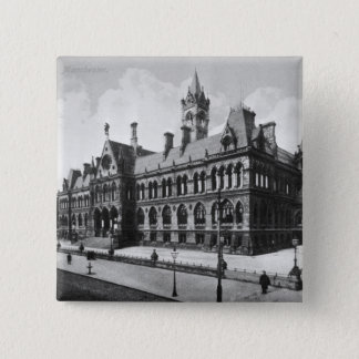 Assize Courts, Manchester, c.1910 15 Cm Square Badge