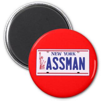 Assman New York License Plate Products Fridge Magnet