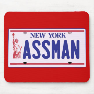 Assman New York License Plate Products Mouse Pad
