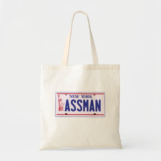 Assman New York License Plate Products Tote Bag