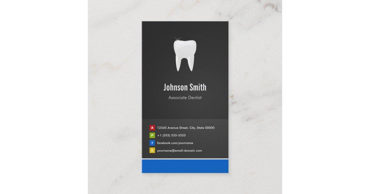 Associate dentist dental creative innovative business card associate dentist dental creative innovative business card zazzle reheart Choice Image