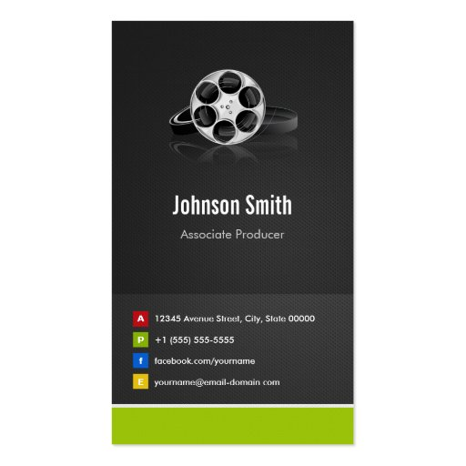 Create your own film producer business cards page2 associate producer premium creative innovative business cards colourmoves Image collections