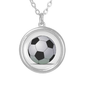 Association Football American Soccer Ball Silver Plated Necklace