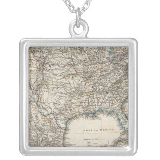 Association states of North America, Mexico Silver Plated Necklace