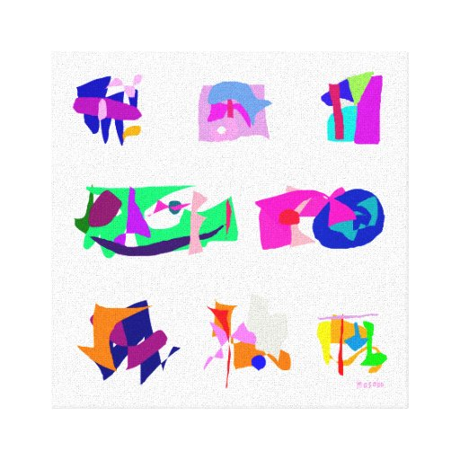 Assorted Abstracts Gallery Wrapped Canvas