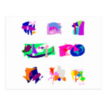 Assorted Abstracts Post Card
