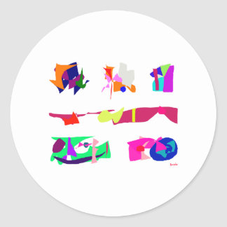 Assorted Abstracts Sticker