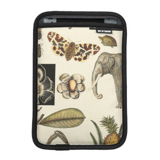Assorted Animals Painted on Cream Background iPad Mini Sleeve