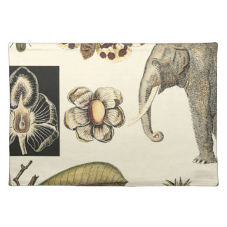 Assorted Animals Painted on Cream Background Placemat