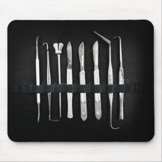 Assorted Antique Embalming Tools Mouse Pad