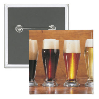 Assorted beers and ales 15 cm square badge