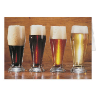 Assorted beers and ales card