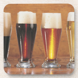 Assorted beers and ales coaster